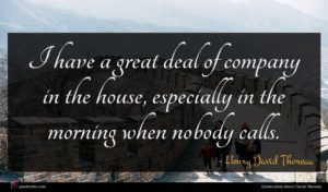 Henry David Thoreau quote : I have a great ...