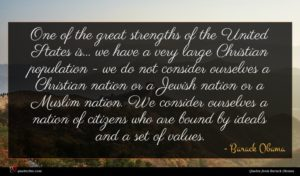 Barack Obama quote : One of the great ...