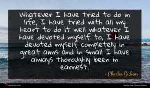 Charles Dickens quote : Whatever I have tried ...