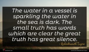 Rabindranath Tagore quote : The water in a ...