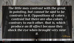 Voltaire quote : The little may contrast ...