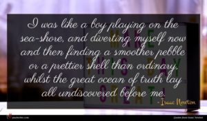 Isaac Newton quote : I was like a ...