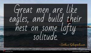Arthur Schopenhauer quote : Great men are like ...