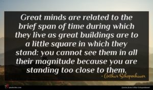 Arthur Schopenhauer quote : Great minds are related ...