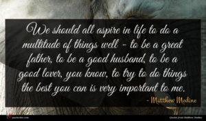 Matthew Modine quote : We should all aspire ...