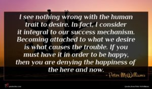 Peter McWilliams quote : I see nothing wrong ...