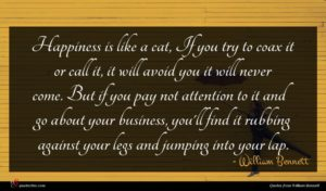William Bennett quote : Happiness is like a ...