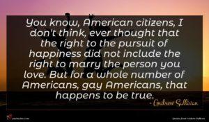 Andrew Sullivan quote : You know American citizens ...