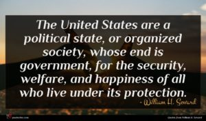 William H. Seward quote : The United States are ...