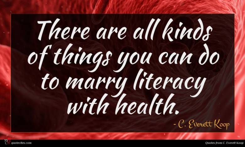 There are all kinds of things you can do to marry literacy with health.