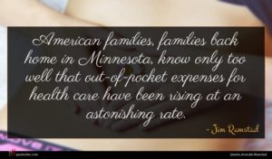 Jim Ramstad quote : American families families back ...