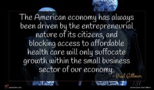 Paul Gillmor quote : The American economy has ...