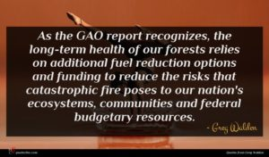 Greg Walden quote : As the GAO report ...
