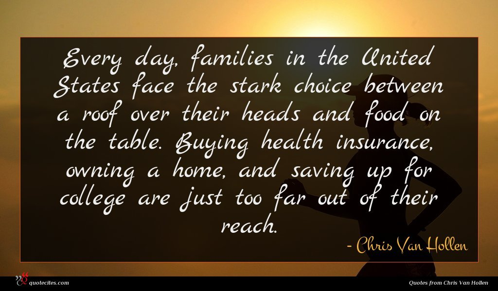 Every day, families in the United States face the stark choice between a roof over their heads and food on the table. Buying health insurance, owning a home, and saving up for college are just too far out of their reach.