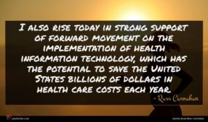 Russ Carnahan quote : I also rise today ...