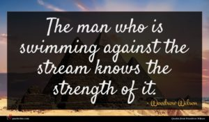 Woodrow Wilson quote : The man who is ...