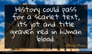 Eldridge Cleaver quote : History could pass for ...