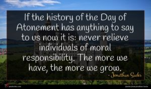 Jonathan Sacks quote : If the history of ...