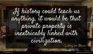 Ludwig von Mises quote : If history could teach ...