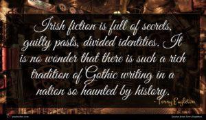 Terry Eagleton quote : Irish fiction is full ...