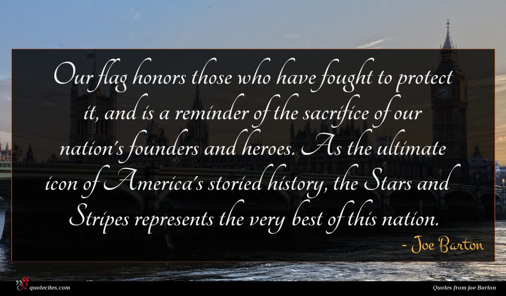 Our flag honors those who have fought to protect it, and is a reminder of the sacrifice of our nation's founders and heroes. As the ultimate icon of America's storied history, the Stars and Stripes represents the very best of this nation.