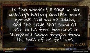 Giuseppe Garibaldi quote : To this wonderful page ...