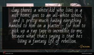 Eminem quote : Say there's a white ...