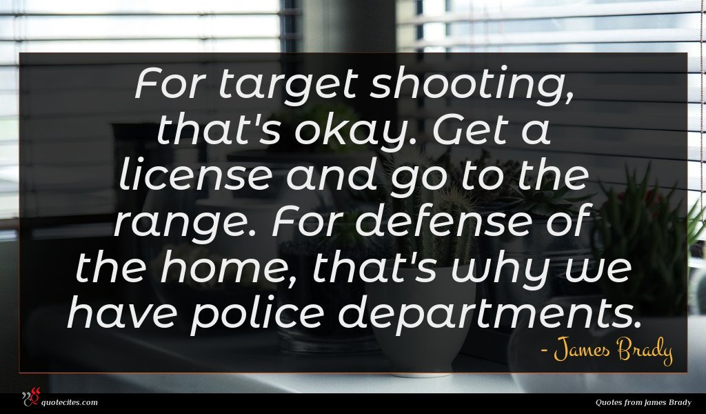 For target shooting, that's okay. Get a license and go to the range. For defense of the home, that's why we have police departments.