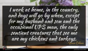 Susan Orlean quote : I work at home ...