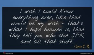 Louis C. K. quote : I wish I could ...