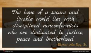 Martin Luther King, Jr. quote : The hope of a ...