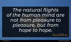 Samuel Johnson quote : The natural flights of ...